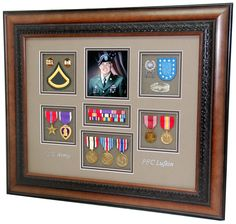 """16"""" x 20"""" Army Engineer Shadow Box Display We made this frame display for a mother who lost her son during the Iraq campaign.  Pin this display to show support for all of our fallen troops around the world."""