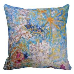Angel in White with Bluebirds Designer Art Pillow Exquisitely gorgeous, you will LOVE our decorative Stunning Angel in White with Bluebirds Designer Art Gift Collection. This whimsical collection features a stunning color palette inspired by the lush gardens of the English Country-side. Perfect as a gift! Our Magnificent Angel in White with Bluebirds Designer Art Gift Collection is designed by artist Marie-Jose Pappas of Innocent Originals.
