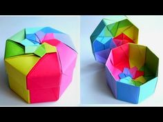 Origami Ball, Diy Origami, Origami Cube, Paper Crafts Origami, Diy Paper, Paper Art, Adult Crafts, Fun Crafts, Diy And Crafts
