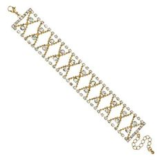 Red Herring Diamante crystal and ball chain bracelet | Debenhams