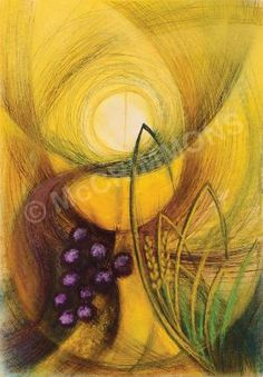 New Life Banner - Bread & Wine by Sr Mary Stephen CRSS - visit our website to see our full range of banners, posters and foamex boards!