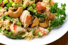 Warm Quinoa Salad with Shrimp and Asparagus...does everyone love quinoa as much as I do??