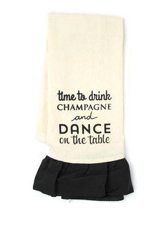 I SCREEN YOU SCREEN Dance On The Table Linen Ruffle Towel | ideel