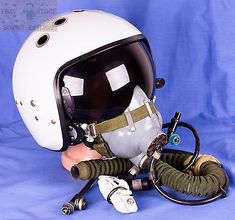 #Original soviet air #force ussr #aviator pilot helmet zsh-7 + oxygen mask, View more on the LINK: http://www.zeppy.io/product/gb/2/262271030624/