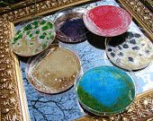 Petri Dish coasters... awesome!!!!!! we should make these for Rohde!! @Lauren Boudreau