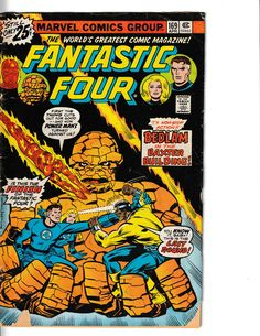 FANTASTIC FOUR # 169 Mister Fantastic, Fantastic Four, Comic Book Covers, Comic Books, Mole Man, Jack Kirby Art, Invisible Woman, Human Torch, Classic Comics