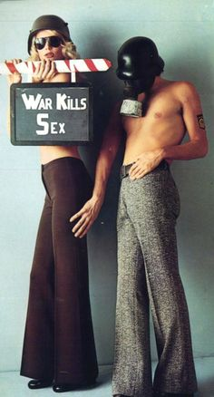 """War Kills Sex"" - Ellesse advertisement - Vogue Italia, 1972"