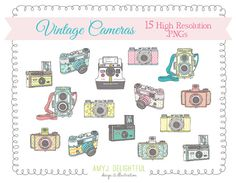 Vintage Cameras CLIP ART SET for personal and by amyjdelightful Brochure Design, Logo Design, Flash Templates, Camera Clip Art, Butterfly Clip Art, Camera Logo, Personal Planners, Vintage Cameras, Vintage Greeting Cards