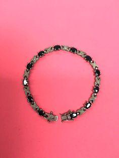 Gemstone Bracelet Sterling Silver Bracelet by FindingMaineVintage