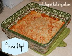 Pizza Dip! Sounds Ah-mazing! And SO easy! I'll be making this football season for sure!