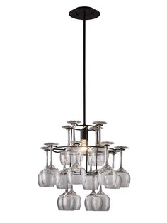 Vintage Collection Single Light Chandelier - Perfect for a bar area.