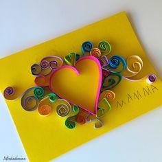 Isoäidille.MotherDay Card - DIY - Card - Idea - Äitienpäivä - Äitienpäiväkortti - Kortti-idea - Sydän - Paperisydän - Heart - Paper Heart