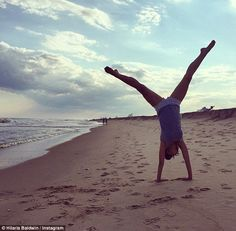 Keen yogi: Alec Baldwin's wife gave birth less than two months ago but by the looks of it,...
