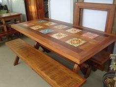 mesas de madeira retangulares - Pesquisa Google