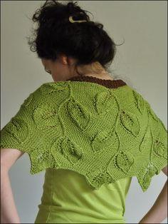 Leaf shawl