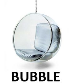 Eero Aarnio's bubble chair - I've always wanted to pair this with some Louis IV bergere chairs!