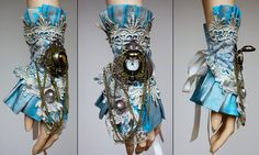 Custom cuff by ~Pinkabsinthe on deviantART (This would be gorgeous for a steampunk Alice!)