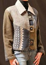 Jacket pieced form felted woolens - Baa Baa Zuzu1