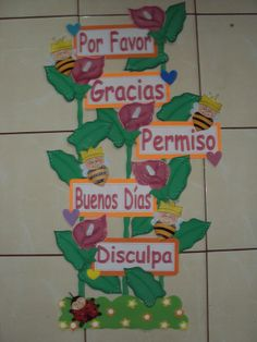 learning the magic words in spanish Preschool Classroom Decor, Preschool Garden, Classroom Organization, Foam Crafts, Crafts To Make, Crafts For Kids, School Decorations, Class Decoration, Lkg Worksheets
