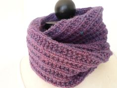 Alpaca scarf  wear straight or double as a cowl  original pattern  see more at 5th Ave Fibers