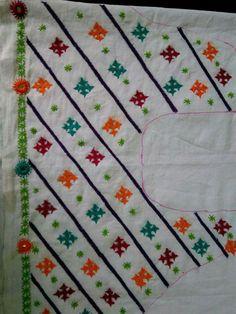 Kutch work neck patterns