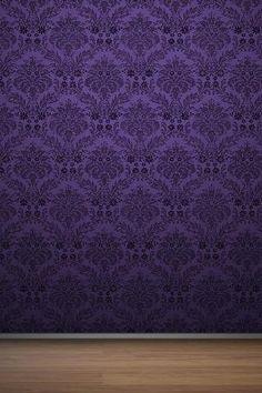 Purple pattern wallpaper with wood.Prınt on purple fabrıc
