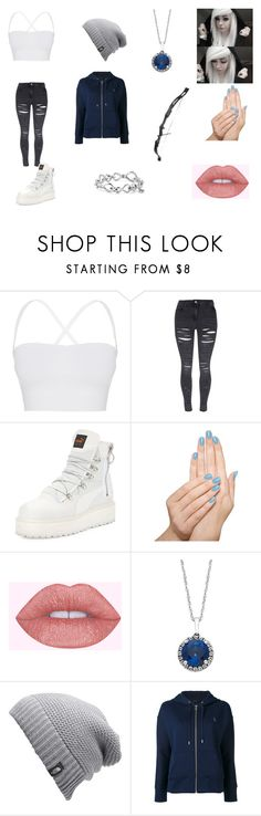 """""""Minecraft Skeleton"""" by pastelkittyxx ❤ liked on Polyvore featuring Theory, Puma, Bow & Arrow, Piggy Paint, The North Face, Polo Ralph Lauren and David Yurman"""