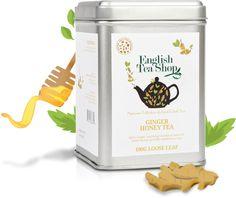 English Tea Shop – Bio gyömbér-méz tea szálas, 100 g