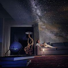 Sega Toys Homestar Flux (Satin Black) Home Planetarium Star Projector Constellations, Ciel Nocturne, Million Stars, Innovation, Andromeda Galaxy, Wall Plug, Leaded Glass, Space Travel, White Lead