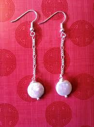 mother of pearl dangly earrings...just because mother of pearl was my dad's favorite stone ;-)