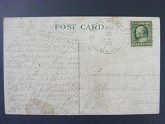 North Heath Massachusetts Franklin Co 1911 4-Bar Cancel DPO 1833-1920 Postcard
