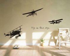 Goedkope vliegtuig vliegen in de lucht muurschildering vinyl kunst aan de muur decor kunst aan de muur decor muursticker home decoration kunst, koop Kwaliteit muurstickers rechtstreeks van Leveranciers van China: vliegende duif vogel woonkamer slaapkamer muur decor kunst muurschildering vinyl muu