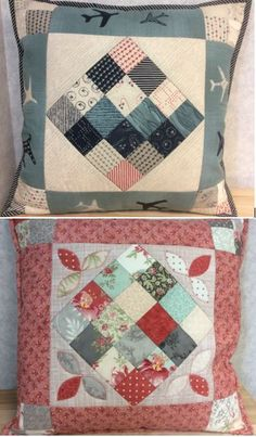 Want to find a use for your mini charm packs? How about some beautiful cushion covers! Equally you could cut the 2 inch squares from your own stash of materials. Charm Pack, All Craft, Cushion Covers, Dressmaking, Cushions, Quilts, Blanket, Mini, Squares