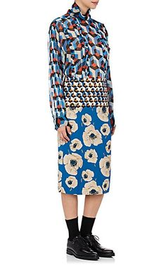 Dries Van Noten Contes Bis #Silk #Blouse #top #skirt #graphic #floral #print