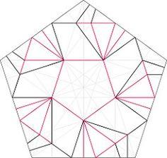 White Star Tato Crease Pattern (oschene) Tags: star origami cp pentagon tato creasepattern
