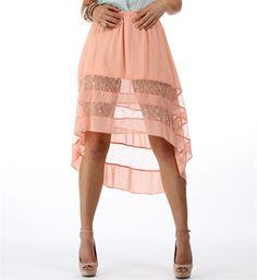 Peach Hi Low Skirt