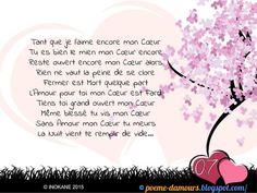 Sans amour mon cœur tu meurs... French Love Poems, Image Citation, Geek Stuff, Lily, Positivity, Words, Images, Attitude, Forever Love