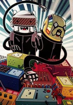 Daft Punk Cartoon #daftpunk #cartoon #picture #caricature
