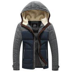 6355bbfe3f Hooded Zip Up Jacket Cotton Blend Material Best Winter Jackets, Cheap  Coats, Mens Attire