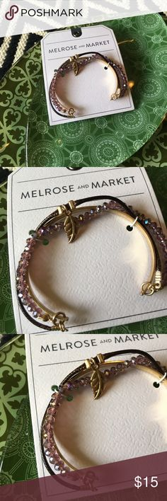 Melrose and Market 3 layer feather cuff NWT. Melrose and Market 3 layer cuff. Melrose and Market Jewelry Bracelets