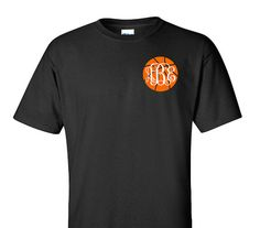 Monogram Basketball Shirt Adult T-Shirt Sports by VinylDezignz