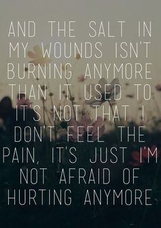 true.  It's been a milestone to learn that with God's help I can handle pain.  He has already been there ahead of me......