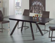Table à manger extensible design noire en céramique MAPUTO Maputo, Decoration, Dining Table, Furniture, Design, Home Decor, Atelier, Extendable Dining Table, Modern