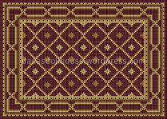 dadasdollhouses tappeto rombi rosso