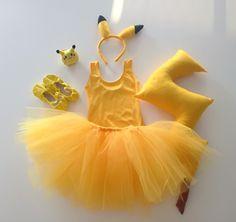 handmade Pikachu costume