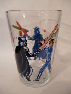 "verre a moutarde illustré ancien""stars wars""1983 in Céramiques, verres, Verre, cristal, Verre, Verres, chopes | eBay"