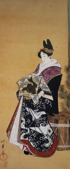 Yahoo!ブログ - 画像表示 Art Occidental, Japanese Folklore, Japanese Painting, Japanese Prints, Japan Art, Japanese Culture, Woodblock Print, Vintage Photographs, Chinese Art