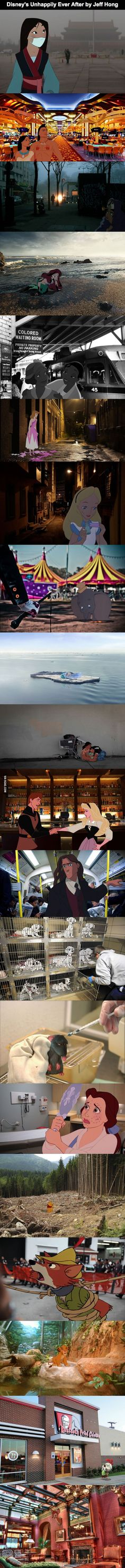 Disneys Unhappily Ever After - 9GAG Warning: May destroy childhood memories Sad and Dramatic real live!