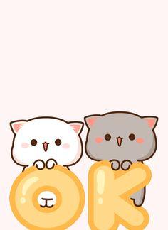 Cute Kawaii Animals, Kawaii Cat, Kawaii Anime, Chibi Cat, Cute Chibi, Kawaii Illustration, Anime Character Drawing, Cute Love Pictures, Cute Kawaii Drawings