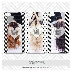 3 BEST FRIENDS PHONE Cases/Blonde, Brunette, Redhead/ Funny Hair Color... ❤ liked on Polyvore featuring accessories and tech accessories